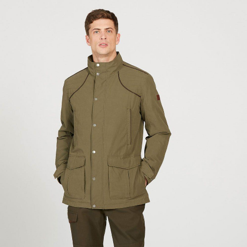 Aigle Signature Field Coat: Bronze Green